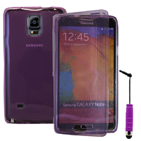 Samsung Galaxy Note 4 SM-N910F/ Note 4 Duos (Dual SIM) N9100/ Note 4 (CDMA)/ N910C N910W8 N910V N910A N910T N910M: Accessoire Coque Etui Housse Pochette silicone gel Portefeuille Livre rabat + mini Stylet - VIOLET