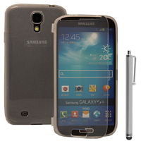 Samsung Galaxy S4 i9500/ i9505/ Value Edition I9515: Accessoire Coque Etui Housse Pochette silicone gel Portefeuille Livre rabat + Stylet - TRANSPARENT