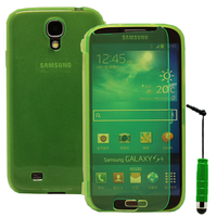 Samsung Galaxy S4 i9500/ i9505/ Value Edition I9515: Accessoire Coque Etui Housse Pochette silicone gel Portefeuille Livre rabat + mini Stylet - VERT