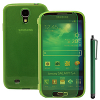 Samsung Galaxy S4 i9500/ i9505/ Value Edition I9515: Accessoire Coque Etui Housse Pochette silicone gel Portefeuille Livre rabat + Stylet - VERT