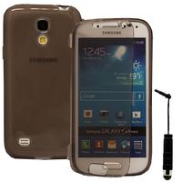 Samsung Galaxy S4 mini i9190/ S4 mini plus I9195I/ i9192/ i9195/ i9197: Accessoire Coque Etui Housse Pochette silicone gel Portefeuille Livre rabat + mini Stylet - GRIS