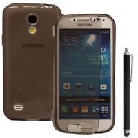 Samsung Galaxy S4 mini i9190/ S4 mini plus I9195I/ i9192/ i9195/ i9197: Accessoire Coque Etui Housse Pochette silicone gel Portefeuille Livre rabat + Stylet - GRIS