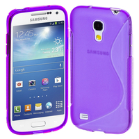 Samsung Galaxy S4 mini i9190/ S4 mini plus I9195I/ i9192/ i9195/ i9197: Accessoire Housse Etui Pochette Coque S silicone gel - VIOLET