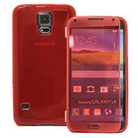 Samsung Galaxy S5 V G900F G900IKSMATW LTE G901F/ Duos / S5 Plus/ S5 Neo SM-G903F/ S5 LTE-A G906S: Accessoire Coque Etui Housse Pochette silicone gel Portefeuille Livre rabat - ROUGE