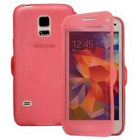 Samsung Galaxy S5 Mini G800F G800H / Duos: Accessoire Coque Etui Housse Pochette silicone gel Portefeuille Livre rabat - ROSE