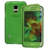 Samsung Galaxy S5 Mini G800F G800H / Duos: Accessoire Coque Etui Housse Pochette silicone gel Portefeuille Livre rabat - VERT