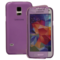 Samsung Galaxy S5 Mini G800F G800H / Duos: Accessoire Coque Etui Housse Pochette silicone gel Portefeuille Livre rabat - VIOLET