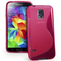 Samsung Galaxy S5 Mini G800F G800H / Duos: Accessoire Housse Etui Pochette Coque S silicone gel - ROSE