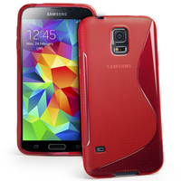 Samsung Galaxy S5 Mini G800F G800H / Duos: Accessoire Housse Etui Pochette Coque S silicone gel - ROUGE