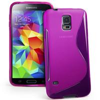 Samsung Galaxy S5 Mini G800F G800H / Duos: Accessoire Housse Etui Pochette Coque S silicone gel - VIOLET