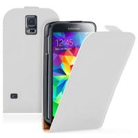 Samsung Galaxy S5 Mini G800F G800H / Duos: Accessoire Housse coque etui cuir fine slim - BLANC