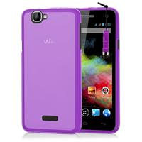 Wiko Rainbow: Accessoire Housse Etui Pochette Coque silicone gel + mini Stylet - VIOLET