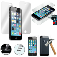 Apple iPhone 5/ 5S/ SE: Lot/ Pack de 3 paires de protection en verre trempé avant et arrière