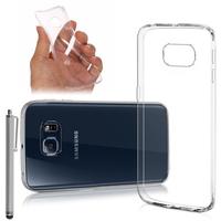 Samsung Galaxy S6 edge SM-G925/ S6 edge (CDMA)/ G925F/ G925T/ G9250/ G925A/ G925FQ/ G925L/ G925P: Accessoire Housse Etui Coque gel UltraSlim et Ajustement parfait + Stylet - TRANSPARENT