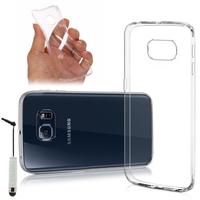 Samsung Galaxy S6 edge SM-G925/ S6 edge (CDMA)/ G925F/ G925T/ G9250/ G925A/ G925FQ/ G925L/ G925P: Accessoire Housse Etui Coque gel UltraSlim et Ajustement parfait + mini Stylet - TRANSPARENT