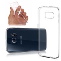 Samsung Galaxy S6 edge SM-G925/ S6 edge (CDMA)/ G925F/ G925T/ G9250/ G925A/ G925FQ/ G925L/ G925P/ G925R/ G925V/ G925W8: Accessoire Housse Etui Coque gel UltraSlim et Ajustement parfait - TRANSPARENT