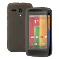 Motorola Moto G X1032/ Forte/ Grip Shell/ LTE 4G: Accessoire Coque Etui Housse Pochette silicone gel Portefeuille Livre rabat - GRIS