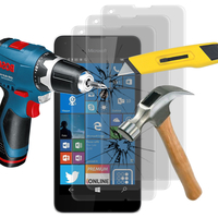 Microsoft Nokia Lumia 550: Lot / Pack de 3 Films de protection d'écran Verre Trempé