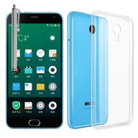 Meizu M2 Note/ Blue Charm Note2: Accessoire Housse Etui Coque gel UltraSlim et Ajustement parfait + Stylet - TRANSPARENT