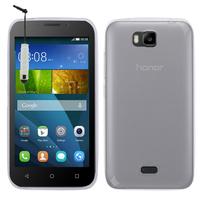 Huawei Y541: Accessoire Housse Etui Coque gel UltraSlim et Ajustement parfait + mini Stylet - TRANSPARENT
