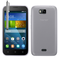 Huawei Y541: Accessoire Housse Etui Coque gel UltraSlim et Ajustement parfait + Stylet - TRANSPARENT