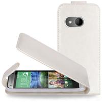 HTC One mini 2/ M8 Mini: Accessoire Etui Housse Coque Pochette simili cuir à rabat vertical - BLANC