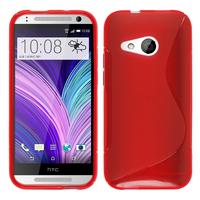 HTC One mini 2/ M8 Mini: Accessoire Housse Etui Pochette Coque Silicone Gel motif S Line - ROUGE
