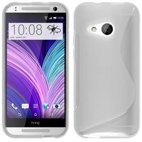 HTC One mini 2/ M8 Mini: Accessoire Housse Etui Pochette Coque Silicone Gel motif S Line - TRANSPARENT