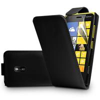 Nokia Asha 503: Accessoire Etui Housse Coque Pochette simili cuir à rabat vertical - NOIR