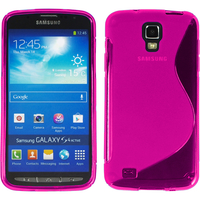 Samsung Galaxy S4 Active I9295/ I537 LTE: Accessoire Housse Etui Pochette Coque Silicone Gel motif S Line - ROSE