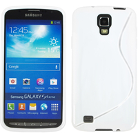 Samsung Galaxy S4 Active I9295/ I537 LTE: Accessoire Housse Etui Pochette Coque Silicone Gel motif S Line - BLANC