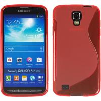 Samsung Galaxy S4 Active I9295/ I537 LTE: Accessoire Housse Etui Pochette Coque Silicone Gel motif S Line - ROUGE