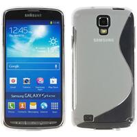 Samsung Galaxy S4 Active I9295/ I537 LTE: Accessoire Housse Etui Pochette Coque Silicone Gel motif S Line - TRANSPARENT
