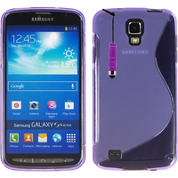 Samsung Galaxy S4 Active I9295/ I537 LTE: Accessoire Housse Etui Pochette Coque Silicone Gel motif S Line + mini Stylet - VIOLET
