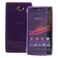 Sony Xperia M2 Aqua D2403 D2406: Accessoire Etui Housse Pochette Coque silicone gel Portefeuille Livre rabat - VIOLET