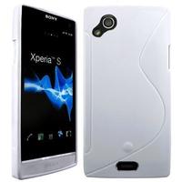 Sony Xperia Arc X12 Lt15i LT15a/ Arc S LT18i LT18a: Accessoire Housse Etui Pochette Coque Silicone Gel motif S Line - BLANC