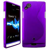 Sony Xperia Arc X12 Lt15i LT15a/ Arc S LT18i LT18a: Accessoire Housse Etui Pochette Coque Silicone Gel motif S Line - VIOLET