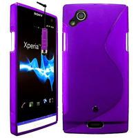 Sony Xperia Arc X12 Lt15i LT15a/ Arc S LT18i LT18a: Accessoire Housse Etui Pochette Coque Silicone Gel motif S Line + mini Stylet - VIOLET