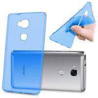 Huawei Honor 5X/ Honor X5/ Huawei GR5: Accessoire Housse Etui Coque gel UltraSlim et Ajustement parfait - BLEU