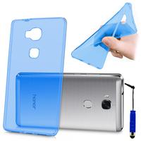 Huawei Honor 5X/ Honor X5/ Huawei GR5: Accessoire Housse Etui Coque gel UltraSlim et Ajustement parfait + mini Stylet - BLEU