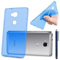 Huawei Honor 5X/ Honor X5/ Huawei GR5: Accessoire Housse Etui Coque gel UltraSlim et Ajustement parfait + Stylet - BLEU
