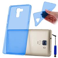 Huawei Honor 7/ 7 Enhanced Edition/ Dual SIM (non compatible Honor 7i): Accessoire Housse Etui Coque gel UltraSlim et Ajustement parfait + mini Stylet - BLEU