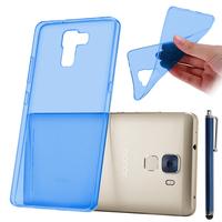 Huawei Honor 7/ 7 Enhanced Edition/ Dual SIM (non compatible Honor 7i): Accessoire Housse Etui Coque gel UltraSlim et Ajustement parfait + Stylet - BLEU
