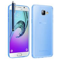 Samsung Galaxy A5 (2016) SM-A510F A510M A510FD A5100 A510Y (non compatible Galaxy A5 (2015)): Accessoire Housse Etui Coque gel UltraSlim et Ajustement parfait + Stylet - BLEU