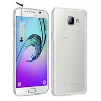 Samsung Galaxy A7 (2016) SM-A710F A710M A710FD A7100 A710Y: Accessoire Housse Etui Coque gel UltraSlim et Ajustement parfait + mini Stylet - TRANSPARENT
