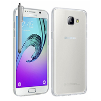 Samsung Galaxy A7 (2016) SM-A710F A710M A710FD A7100 A710Y: Accessoire Housse Etui Coque gel UltraSlim et Ajustement parfait + Stylet - TRANSPARENT