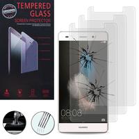 Huawei P8lite ALE-L21/ P8 lite ALE-L04 (non compatible Huawei P8): Lot / Pack de 3 Films de protection d'écran Verre Trempé