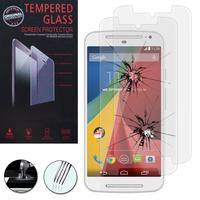 Motorola Moto G2 II G+1 2014 (2nd gen)/ G2 Dual SIM/ Moto G 4G LTE 2015 XT1072/ 4G LTE 2015 Dual SIM XT1068: Lot / Pack de 2 Films de protection d'écran Verre Trempé