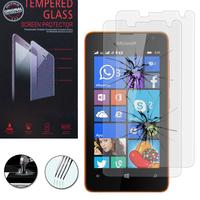 Microsoft Nokia Lumia 430 Dual SIM: Lot / Pack de 2 Films de protection d'écran Verre Trempé