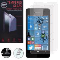 Microsoft Nokia Lumia 550: Lot / Pack de 2 Films de protection d'écran Verre Trempé